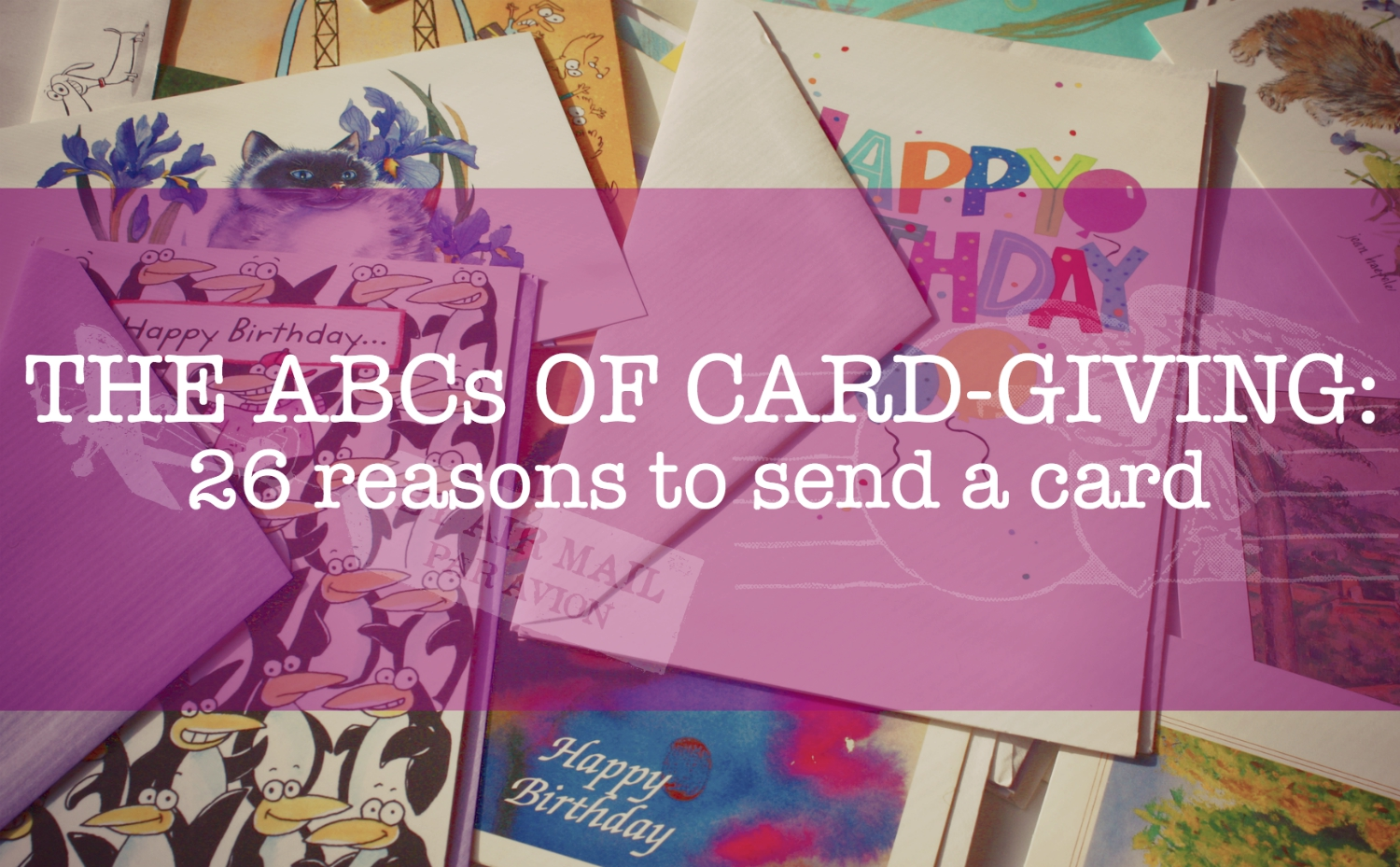 ABCs of card giving