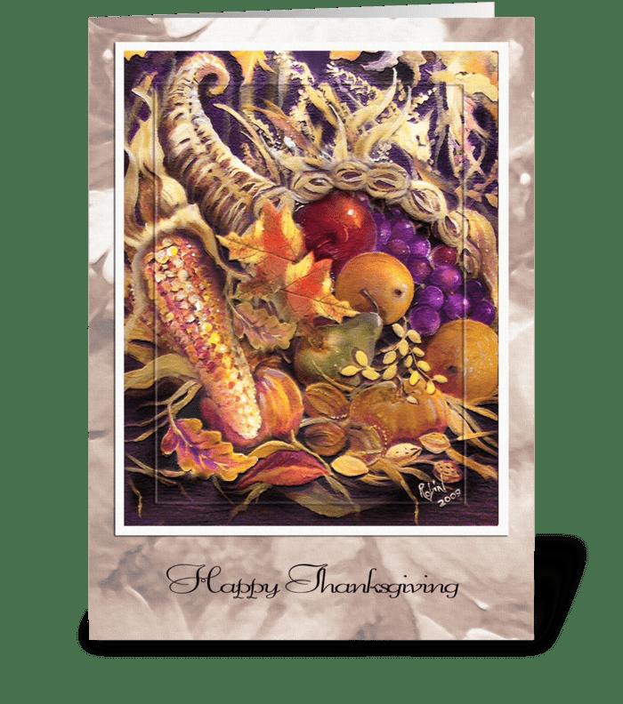Cornucopia ART greeting card