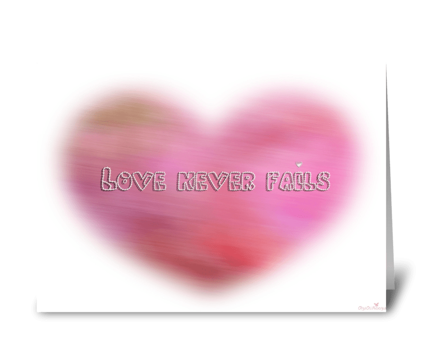 Blurred heart greeting card