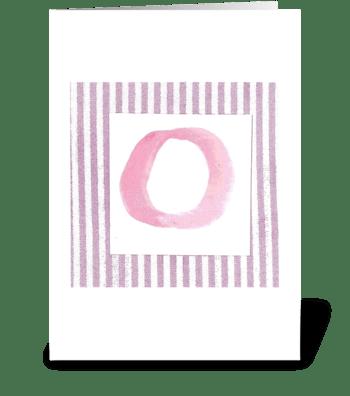O - Baby Girl greeting card