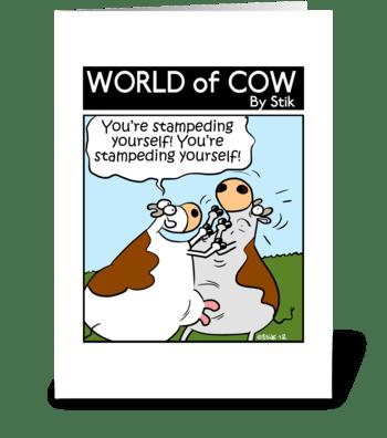 Self Stampeding greeting card
