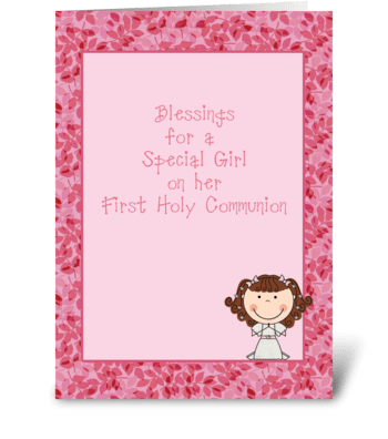 Congratulations, Holy Communion, Girl  greeting card