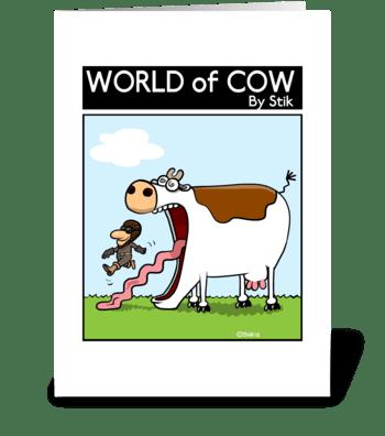Cow Pilot greeting card
