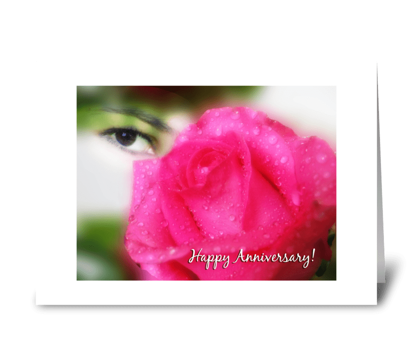 Rose eye greeting card