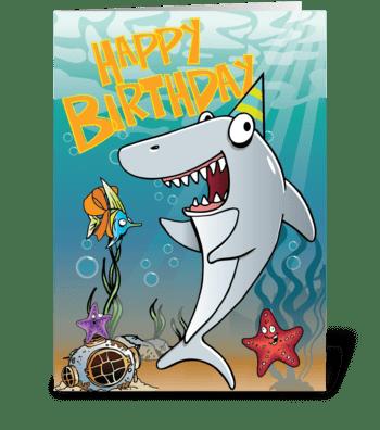Shark Birthday! greeting card