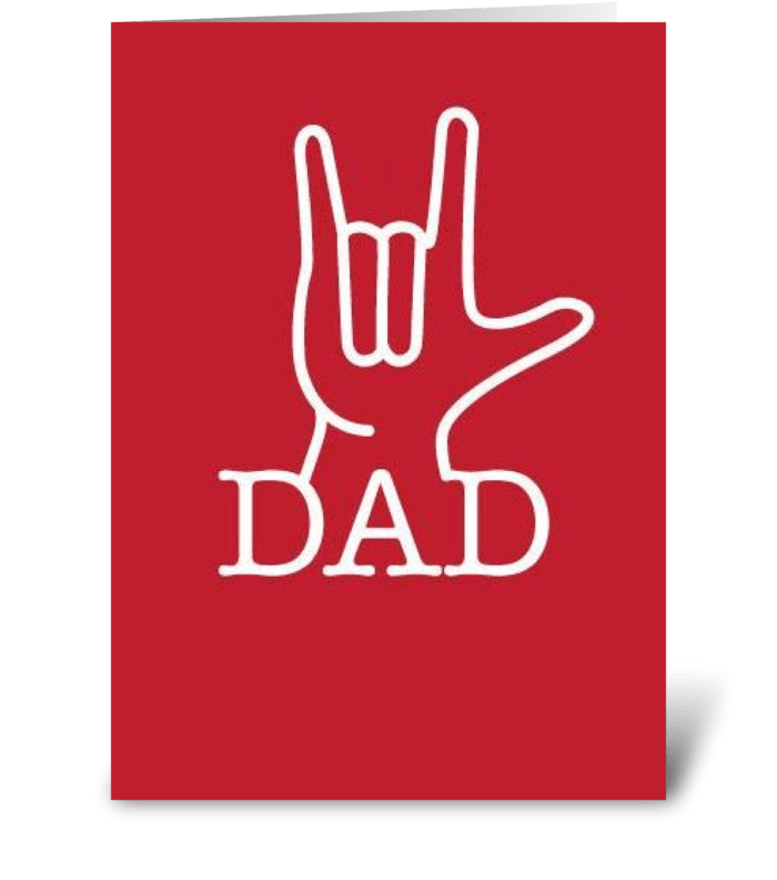 Dad Love greeting card