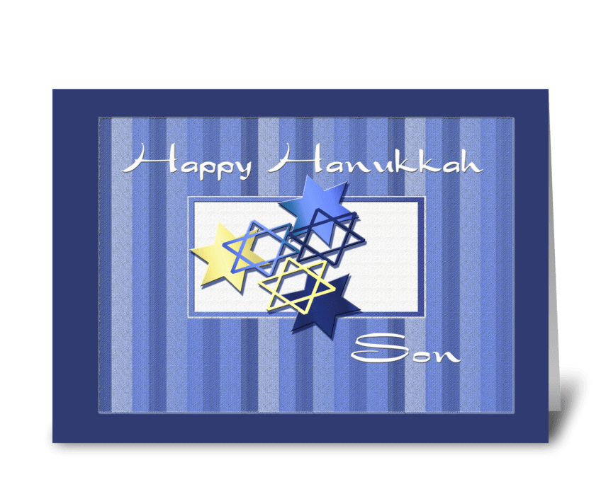 Happy Hanukkah Son greeting card