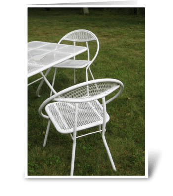 Two Chairs - photograph greeting card
