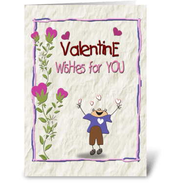 Valentine Wishes, From Boy greeting card
