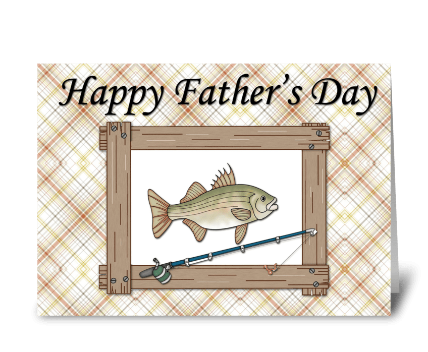 Fish Father's Day Greeting greeting card