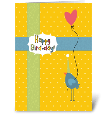 Happy Bird-Day greeting card