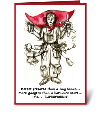 Supermother's Day greeting card