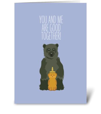 Honey Bear greeting card