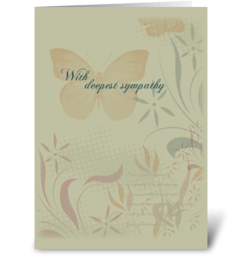 Butterfly Organic Sympathy greeting card