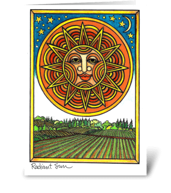 Radiant Sun greeting card