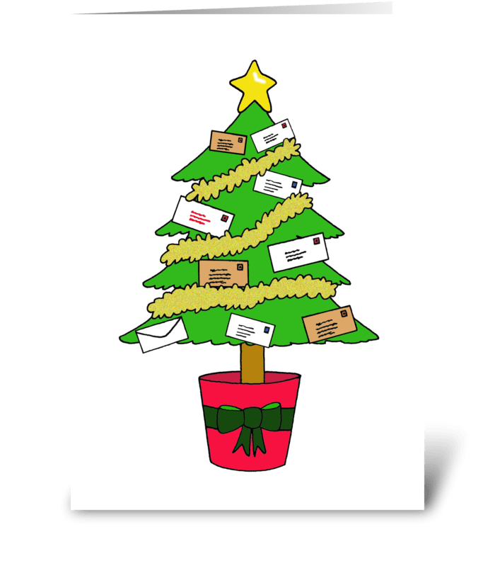 Happy Christmas to Mail Carrier greeting card