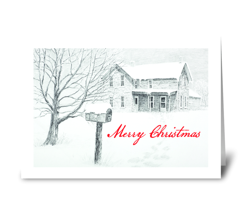 Christmas Message greeting card