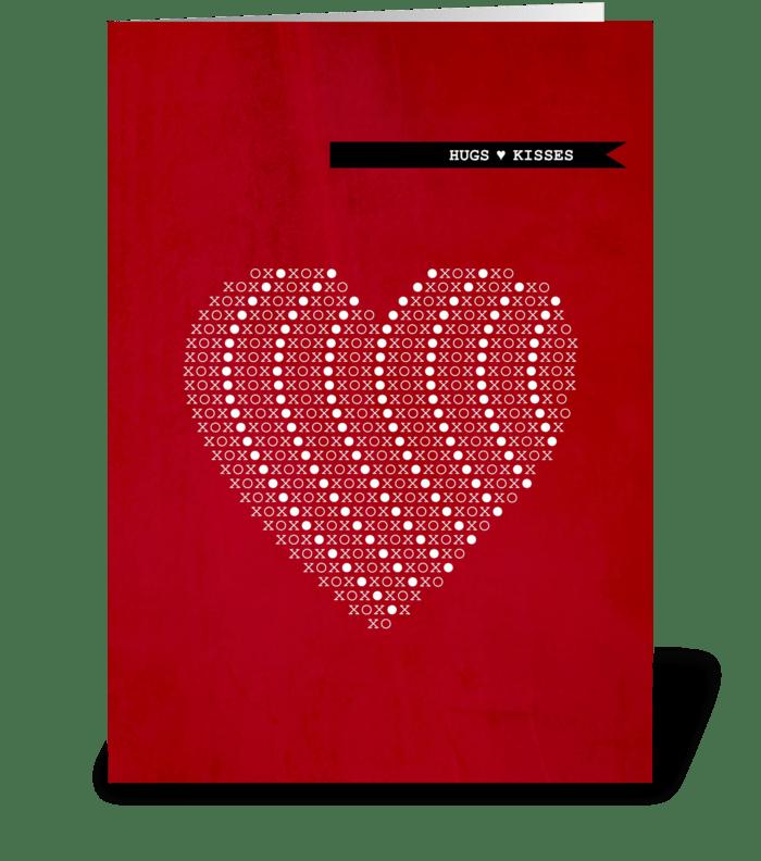Xoxo hugs kisses send this greeting card designed by caramel xoxo hugs kisses greeting card m4hsunfo