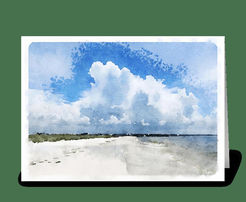 Crooked Isl. Beach greeting card