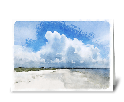 Crooked Isl. Beach greeting card