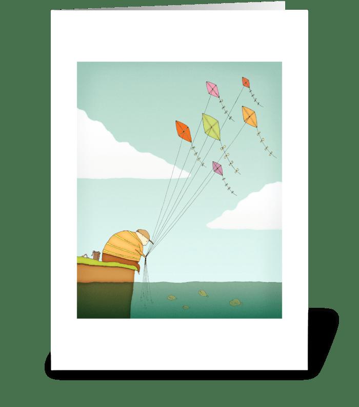 Fly Fishing Greeting Card greeting card