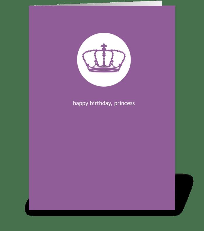 Princess Birthday greeting card