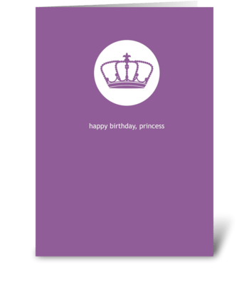 Princess Birthday greeting card