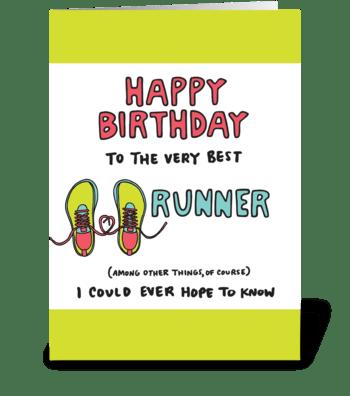 Happy Birthday Runner greeting card