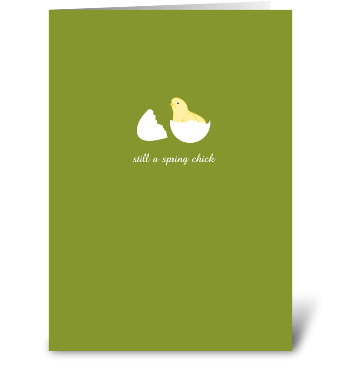 Spring Chick greeting card