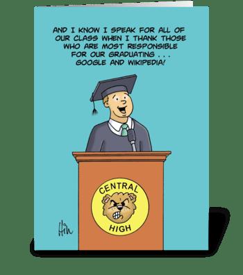 Humorous High School Graduation Card greeting card