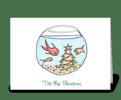 A Fishy Christmas greeting card