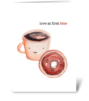 Love at First Bite greeting card