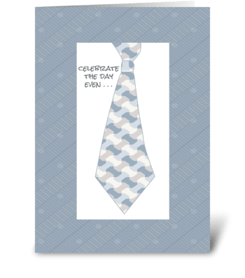Tied Up - Happy Boss's Day greeting card