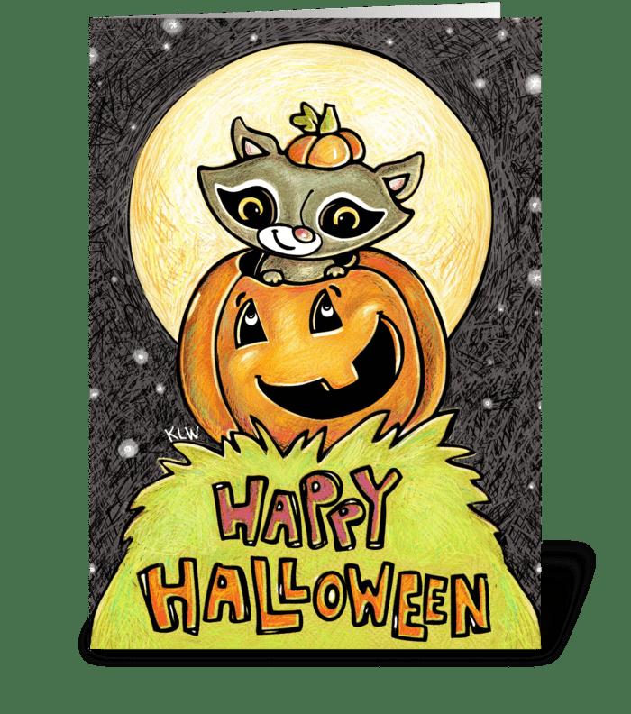 Little Raccoon & Jack greeting card