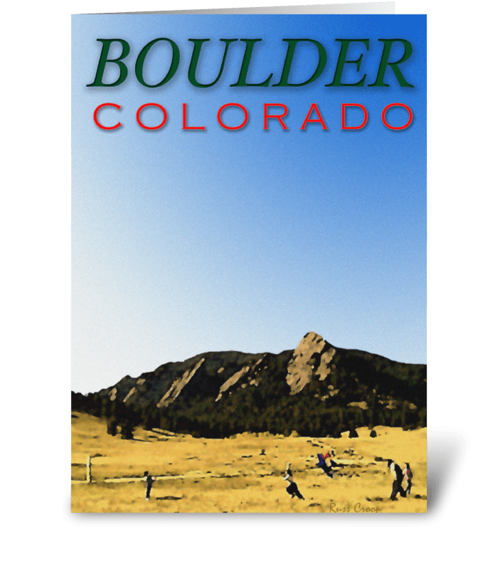 Boulder Travel Poster greeting card