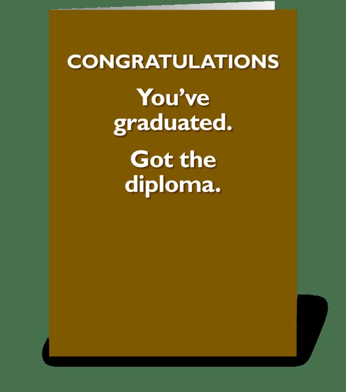 Graduation card greeting card