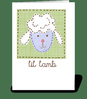 Lil Lamb greeting card