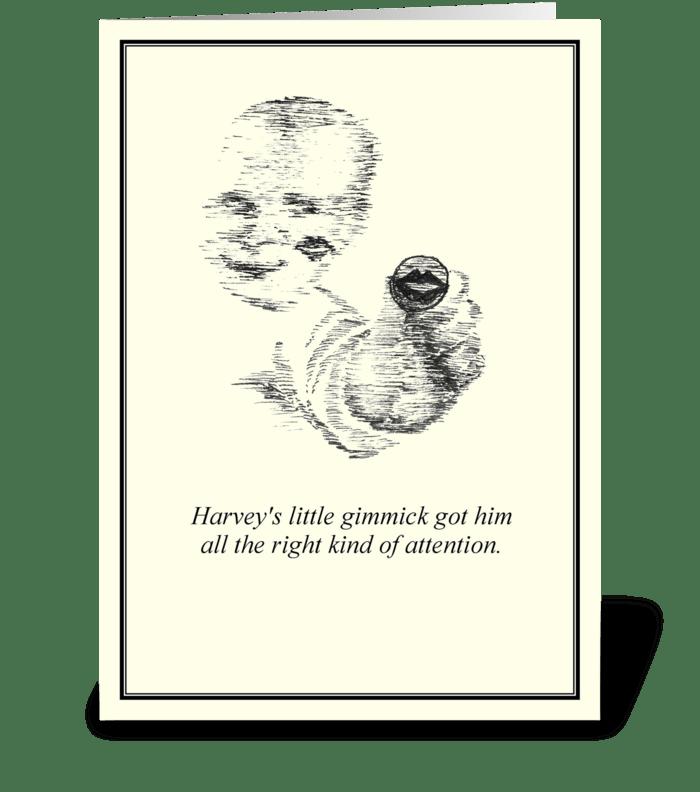 Harvey's Kiss greeting card