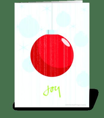 Joy - Blank inside greeting card
