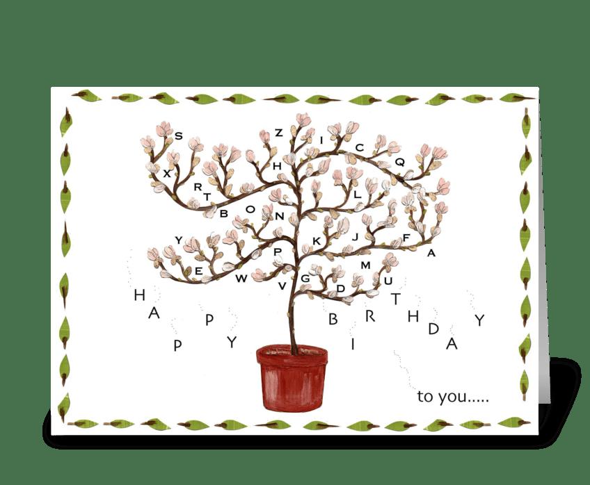 birthday blossoms greeting card