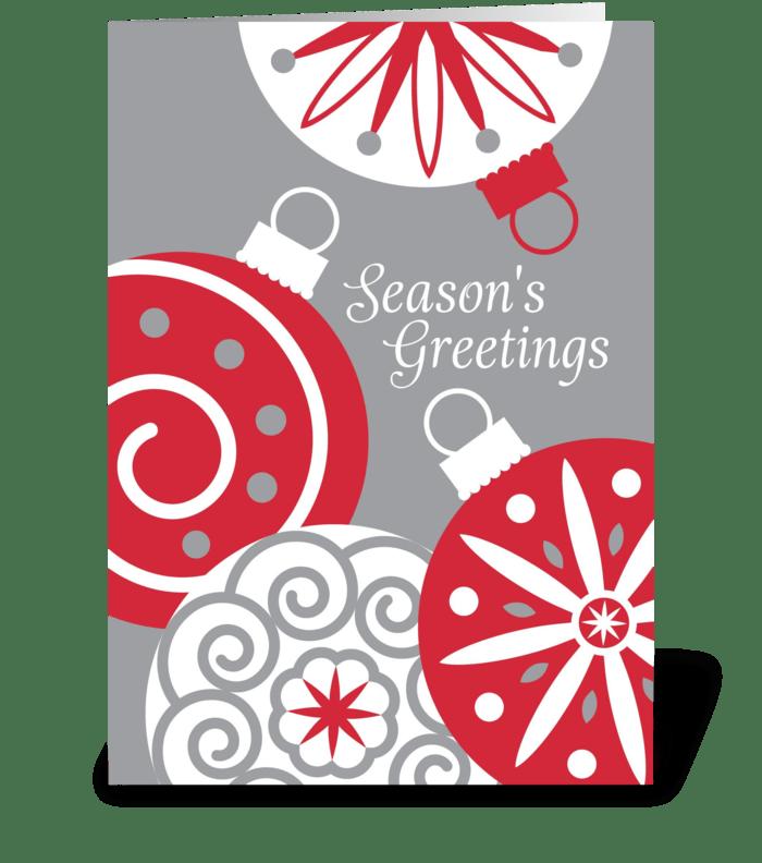 Holiday Ornaments greeting card