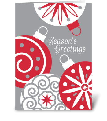 Holiday Ornaments greeting card