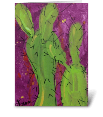 Prickly Cactus greeting card