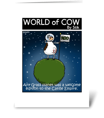 Cow Empire greeting card
