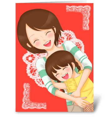 Love you mom! greeting card