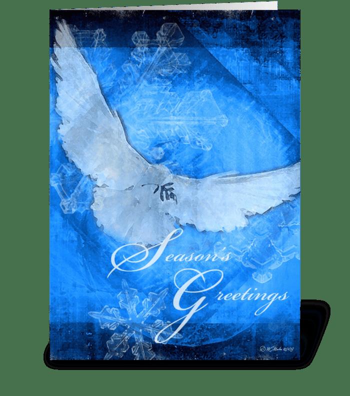 Christmas Dove Christmas Card greeting card
