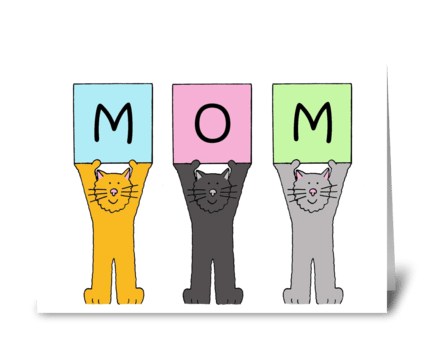 Mother's Day Cats greeting card