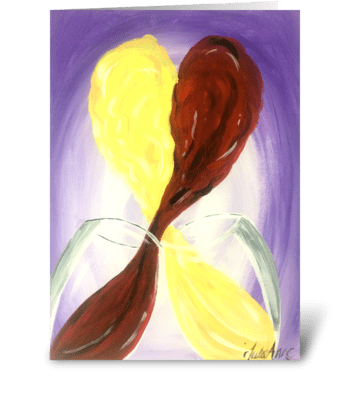 Love Wine greeting card
