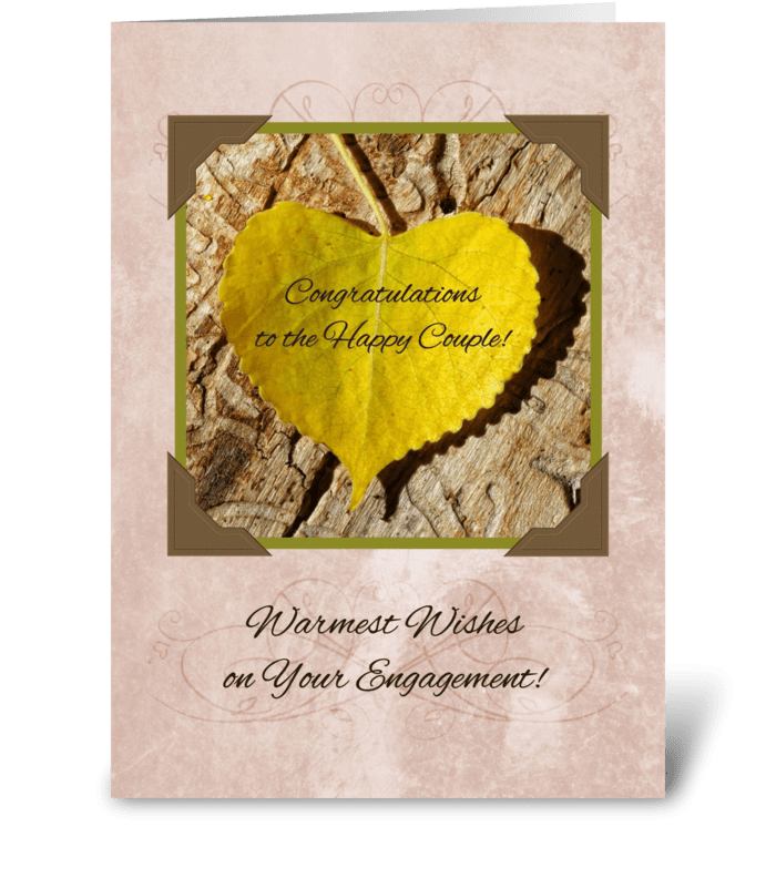 Autumn engagement congratulations send this greeting card designed autumn engagement congratulations greeting card m4hsunfo