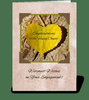 Autumn Engagement Congratulations greeting card